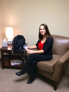 breastfeeding room at Machias Savings Bank